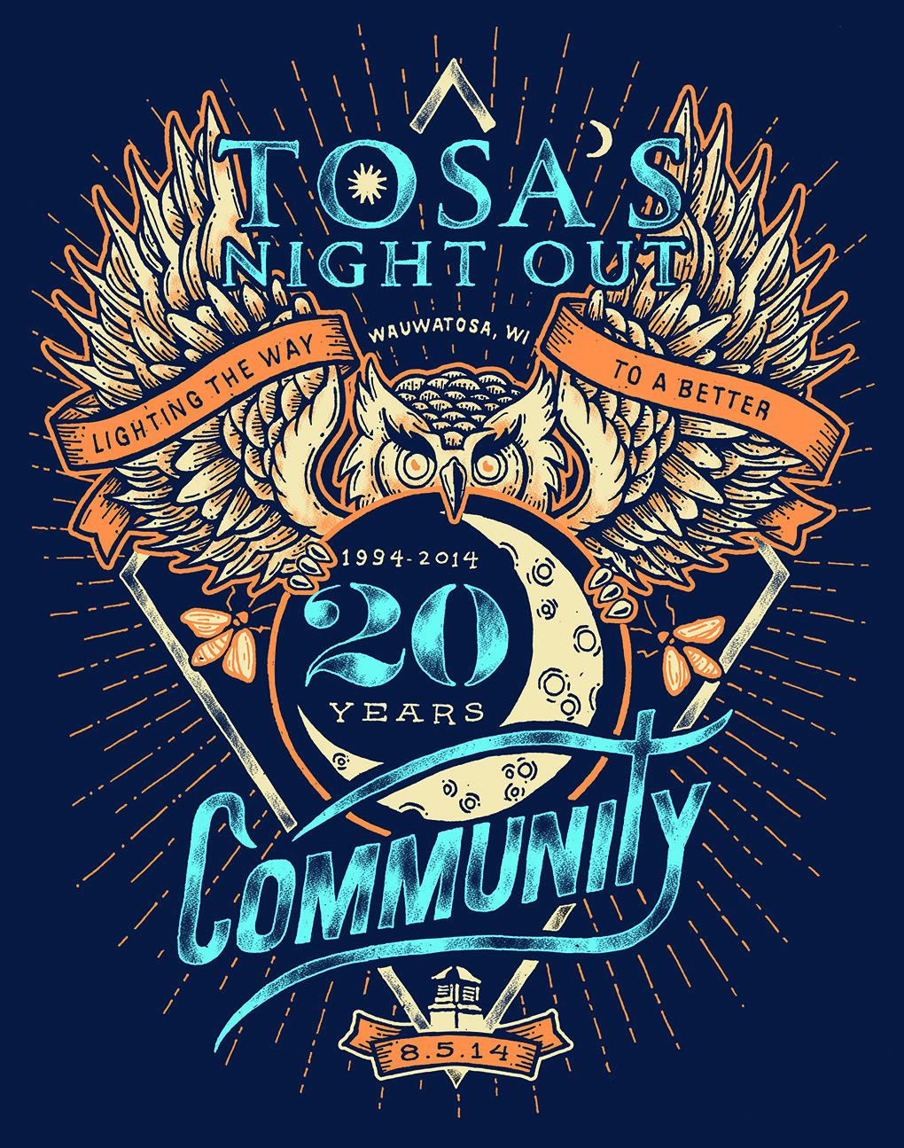 Tosa's Night Out T-shirt for 2014