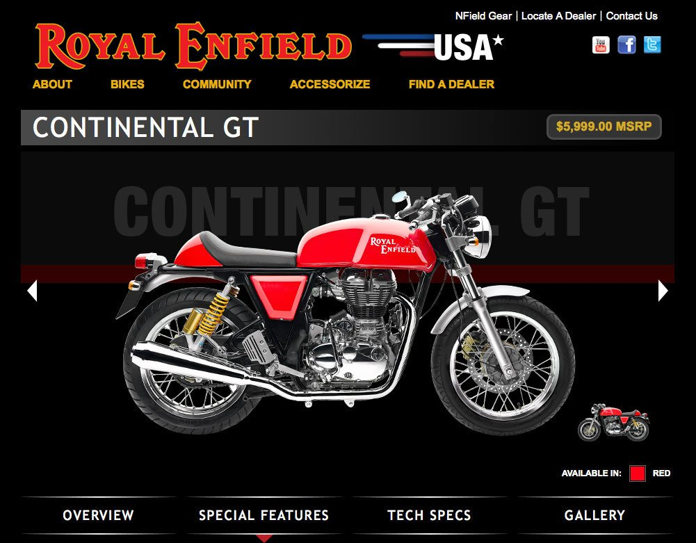 Royal Enfield Motorcycle Web Site
