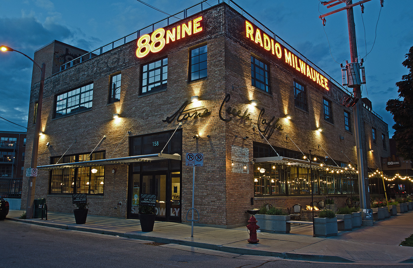 88Nine Radio Milwaukee Exterior Neon signage