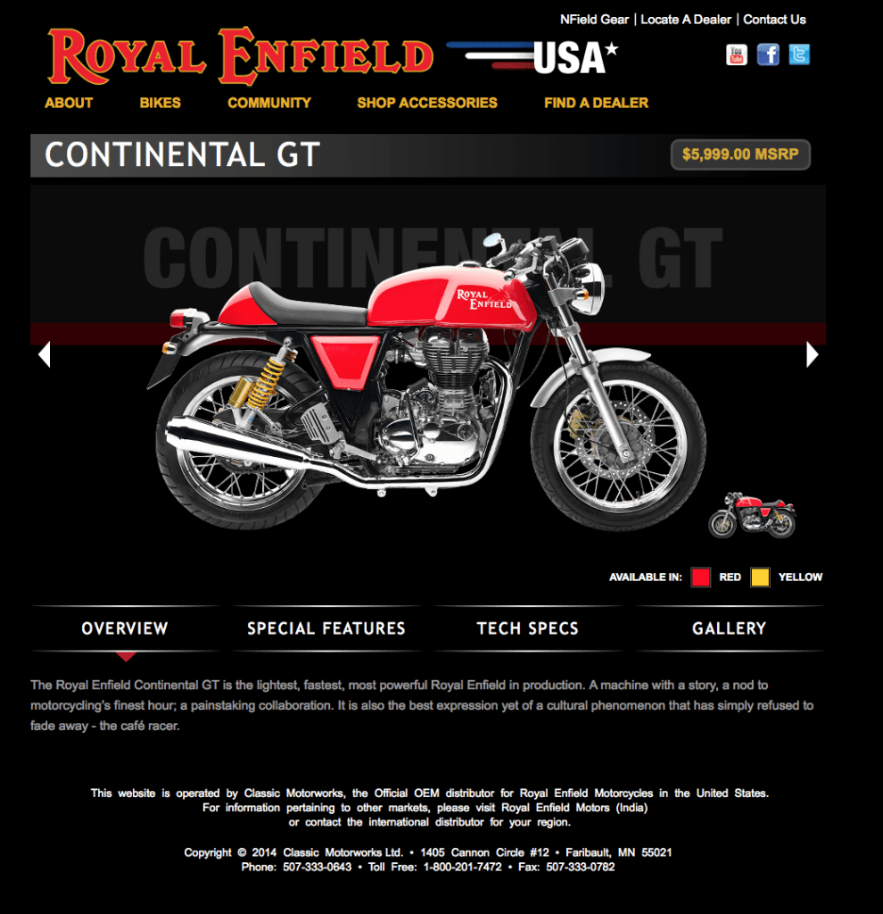 Continetal GT Model Page