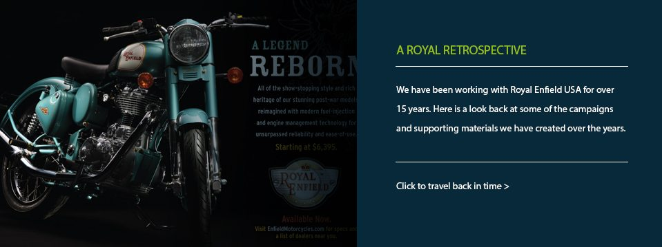 Royal Enfield USA – Catral Doyle creative work.