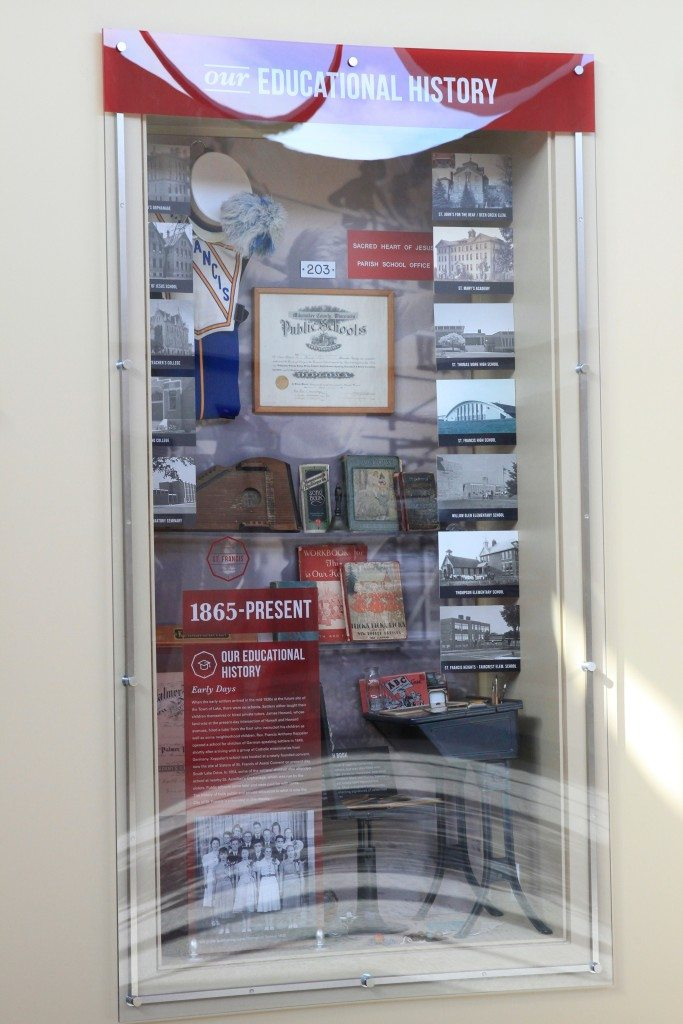 St Francis Historical Society Display Case