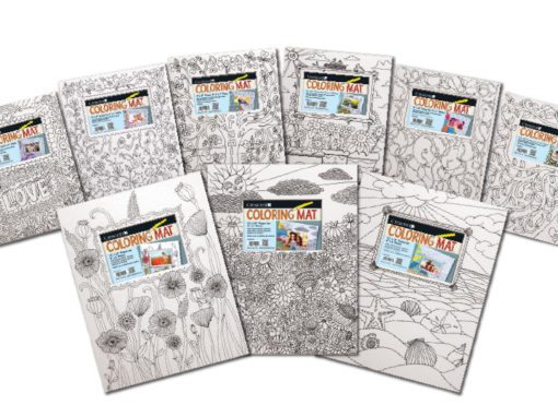 Crescent Coloring Mat Art Boards