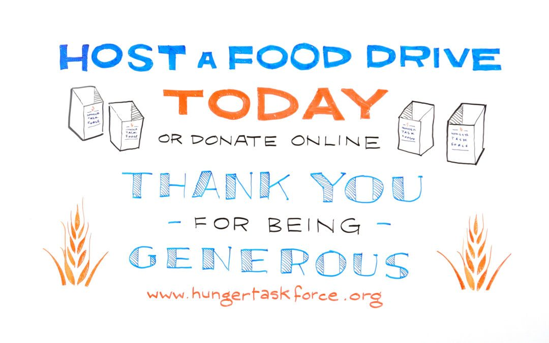 Hunger Task Force How to Host a Food Drive Whiteboard